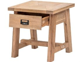 Narvik oak side table with drawer