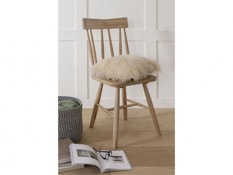 Narvik oak dining chair finance options available