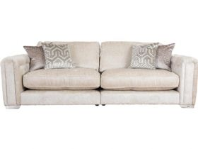 Geovanni extra large neutral leather sofa available at Lee Longlands