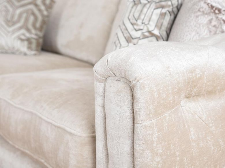 Geovanni neutral luxurious cream XL sofa