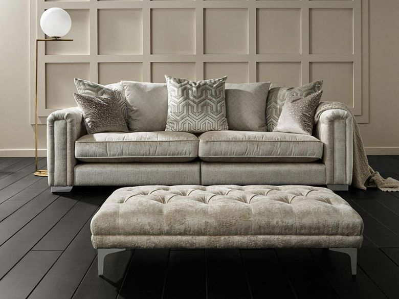 Geovanni cream sofa range interest free credit available
