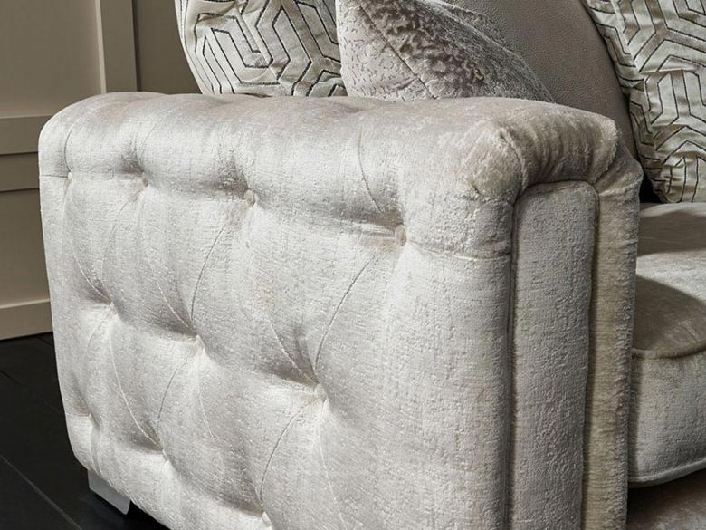 Geovanni xl fabric sofa in Berber Oyster