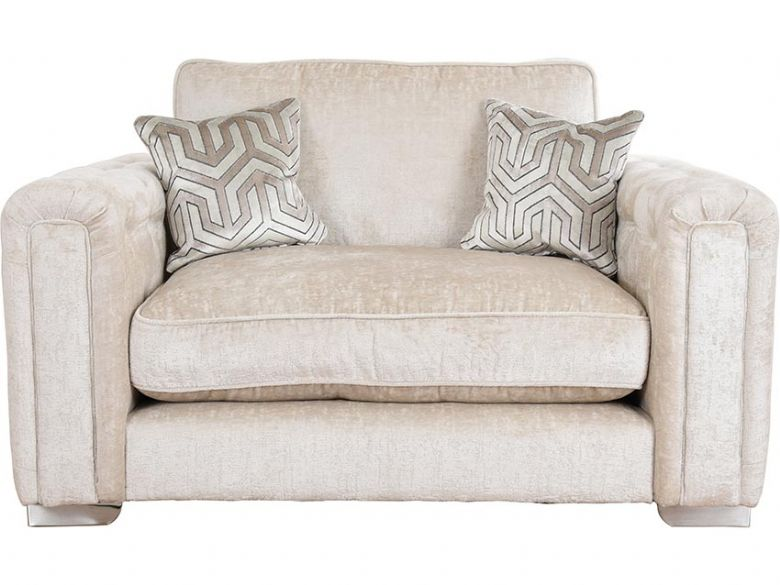 Geovanni cream fabric snuggler available at Lee Longlands