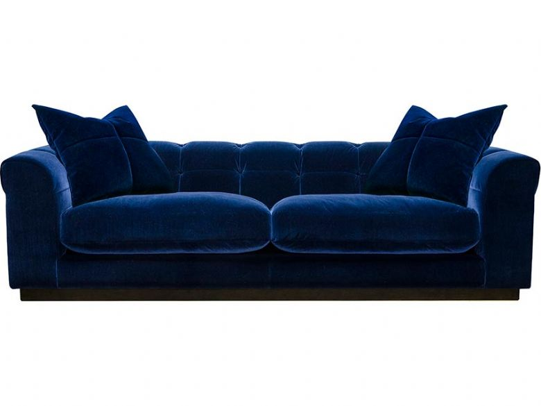 Kingsley Contemporary Blue Fabric 4 Seater Sofa available at Lee Longlands