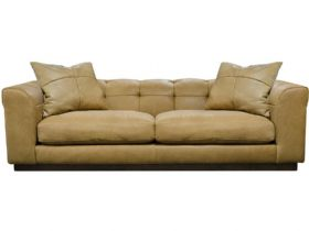 Kingsley Contemporary Leather 4 Seater Sofa interest free credit available