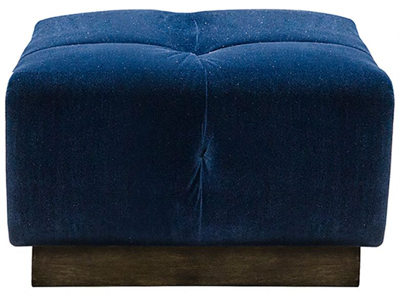 Kingsley contemporary small fabric footstool available at Lee Longlands