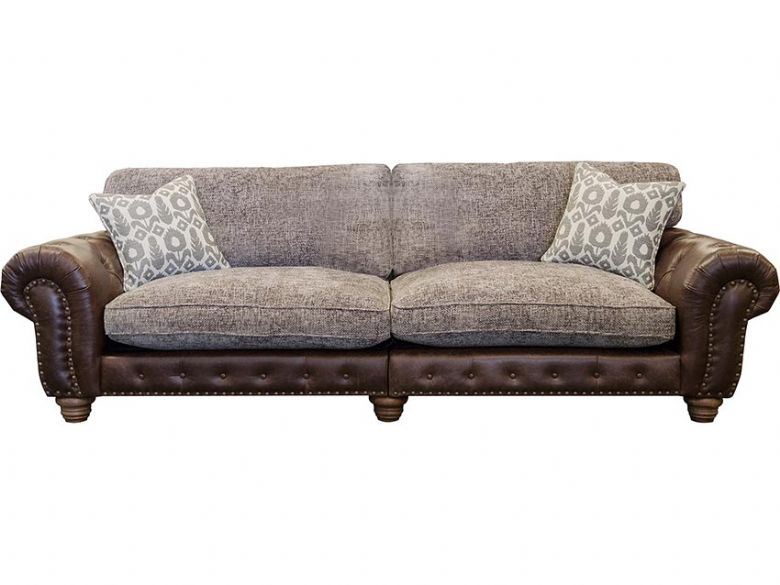 Hamilton 4 seater fabric leather sofa available at Lee Longlands