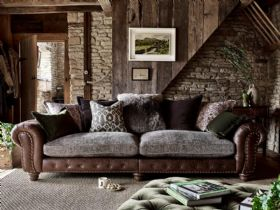 Hamilton leather and fabric sofa range available as scatter back or standard back