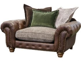 Hamilton leather and fabric cuddle chair interest free credit available