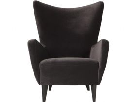 Elsa contemporary grey armchair available at Lee Longlands