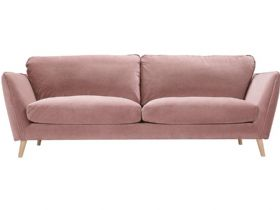 Stella contemporary pink fabric sofa available at Lee Longlands