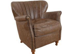 Paul Chair in Leather Biscotti