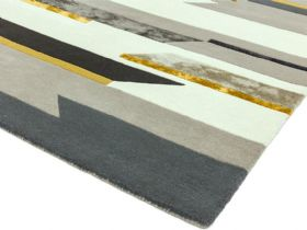 Matrix grey 120x170 rug with mustard accents