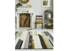 Matrix abstract grey rug available in several sizes