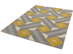Reef large yellow and grey rug