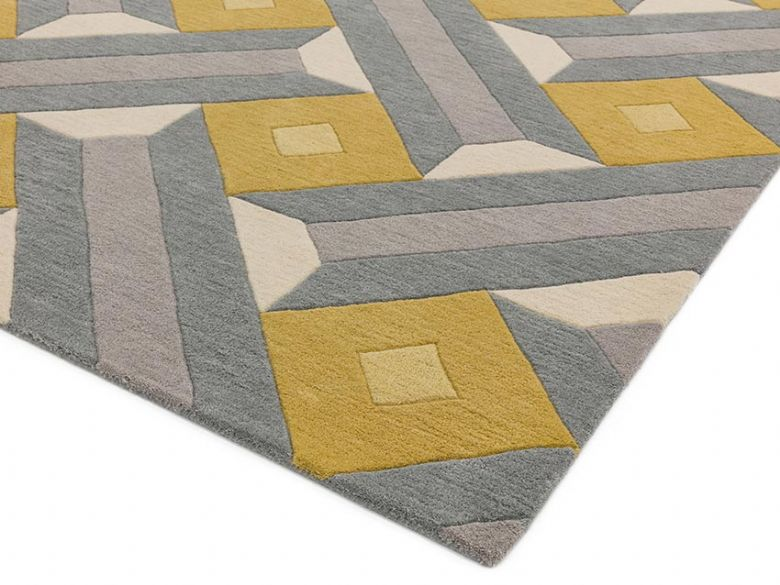 Reef ochre and grey rug runner also available