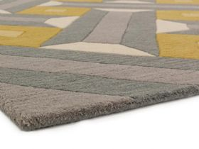 Reef large geometric grey rug other sizes available