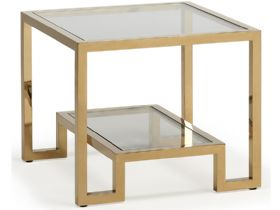 Carmelo Gold Lamp Table