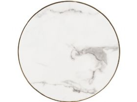 Enola faux marble table top with stainless steel base