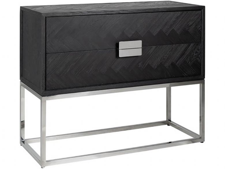Savoy Silver chest of drawers chevron pattern available at Lee Longlands