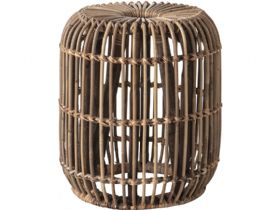 Willow Rattan Small Side Table