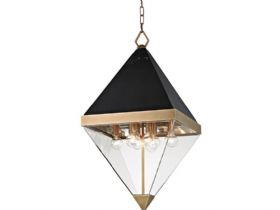 Coltrane brass 8 light pendant for ceiling available at Lee Longlands
