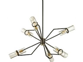 Raef Bronze and Brass 6 Light Chandelier