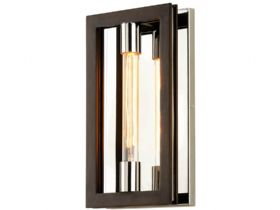 Enigma Bronze and Stainless 1 Light Wall Sconce