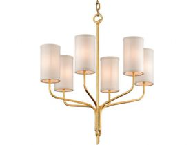 Juniper Gold 6 Light Chandelier
