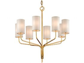 Juniper Gold 8 Light Chandelier