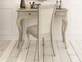 Camille limed oak dressing table and chair