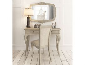 Camille oak wardrobe and chair