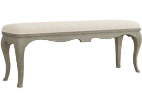 Camille limed oak bench available at Lee Longlands