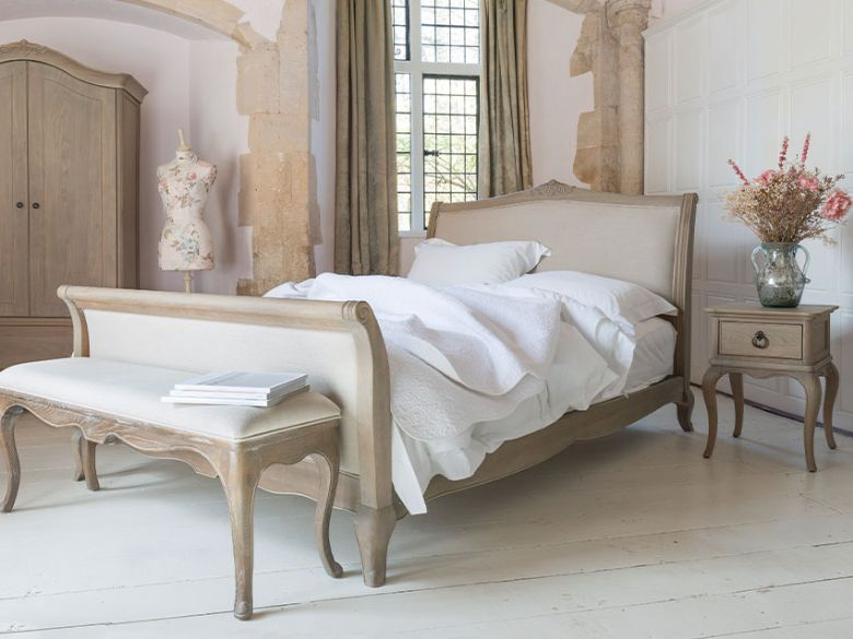 Camille oak bedroom range with limed finish
