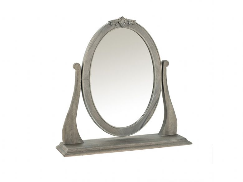 Camille limed oak dressing table mirror