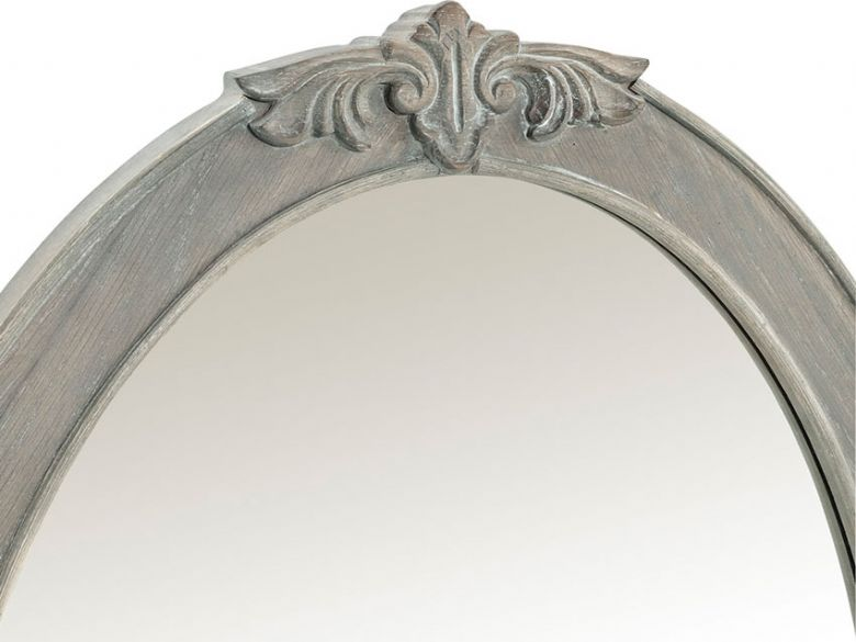Camille limed oak gallery mirror available at Lee Longlands