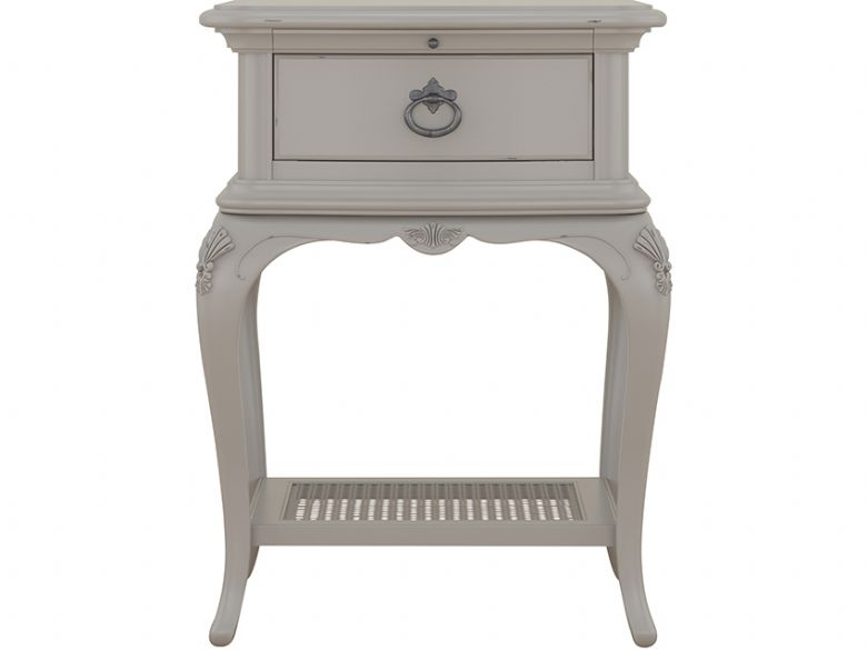 Etienne painted grey 1 drawer bedside interest free credit available