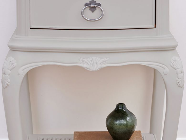 Etienne painted grey bedside table