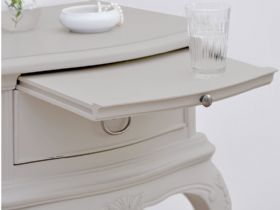 Etienne distressed bedside table with shelf White Glove delivery service
