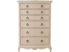Ivory distressed offwhite chest of 6 drawers