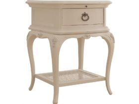 Ivory 1 Drawer Bedside