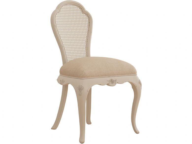 Ivory off white bedroom chair available at Lee Longlands