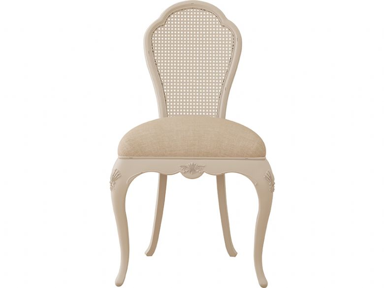 Ivory distressed bedroom chair