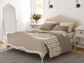 Ivory bedroom collection offwhite with upholstered bed