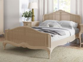 Ivory off white bedroom range with rattan bed frames