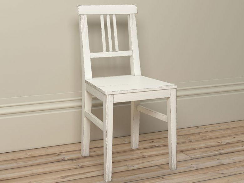 Atelier white dressing chair