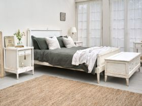 Atelier white distressed French style bedroom furniture