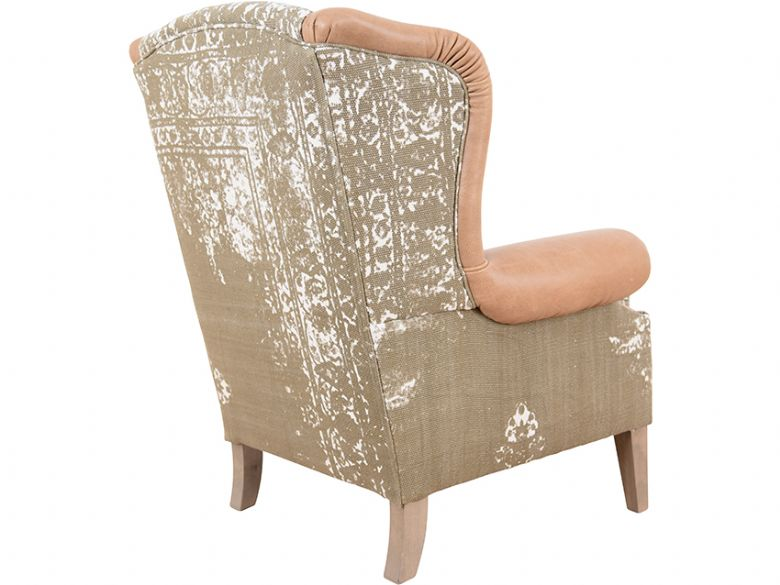 Tetrad Montana leather and fabric armchair