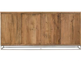 Olette rustic wood 4 door sideboard available at Lee Longlands