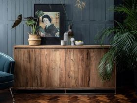 Olette rustic finish 4 door sideboard
